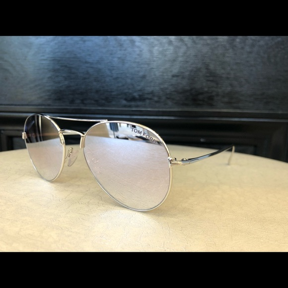 d87c526b8 Tom Ford Accessories | Ace Sunglasses Silver Pink Mirror Lens | Poshmark